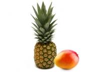 Fruits exotiques-mangue et ananas