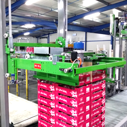 Packaging - Palletizing and strapping pallets