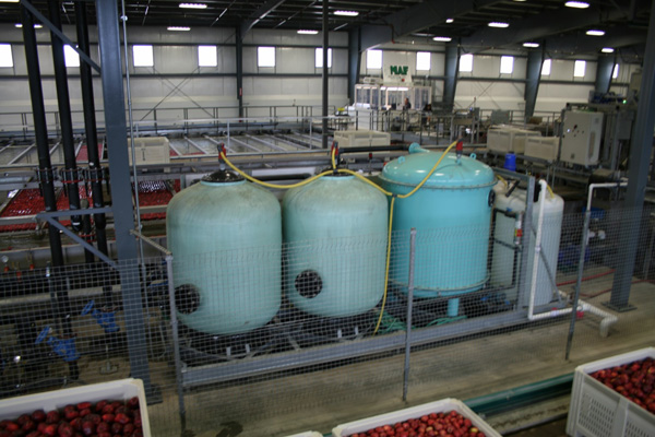 Water treatment tank - Filtration
